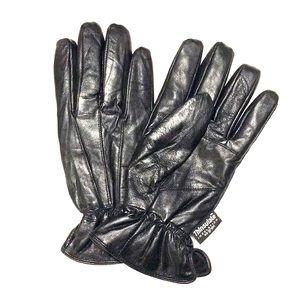 Leather black gloves